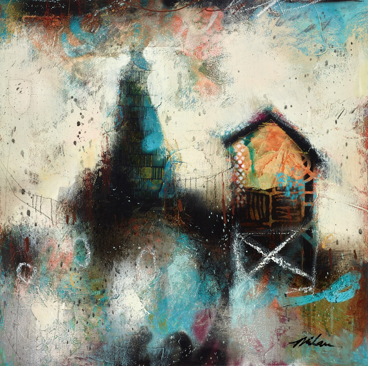 Contemporary Balance IV by john and elli milan -  sized 20x20 inches. Available from Whitewall Galleries